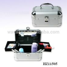 fashional und starken Aluminium Kosmetikkoffer mit 2 Ablagen und ein Spiegel im Inneren