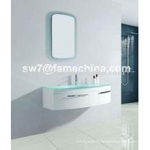 Móveis de banheiro de PVC com bacia de vidro projetada a quente