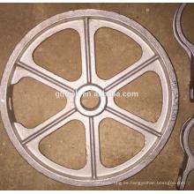Fundición de acero inoxidable piezas de acero al carbono Rueda de mano / hierro / metal