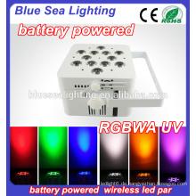 Hochzeit 12x18w rgbwa uv 6in1 drahtlose batteriebetriebene LED-Scheinwerfer