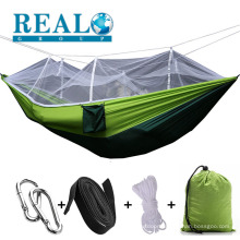 Wholesale hot selling portable outdoor camping single hammocks with mosquito net