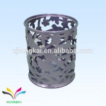 creux gris Porte-gobelet en métal gaufré