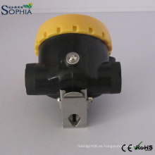El casquillo de la explotación minera de la lámpara LED del casco de la seguridad de los mineros 2.2ah enciende el litio