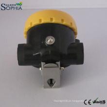 O tampão da mineração do diodo emissor de luz da lâmpada do capacete de segurança dos mineiros de 2.2ah ilumina o lítio