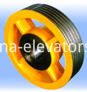 Elevator Car Top Pulley
