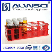 PP Vial Rack Red para EPA VOA Vial