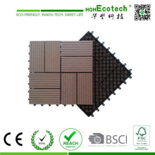 Decking compuesto plástico de madera DIY Tile Terrace WPC Decking Tile Patio Tiles