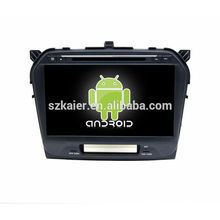 Quad core!car dvd with mirror link/DVR/TPMS/OBD2 for 10.1 inch full touch screen 4.4 Android system SUZUKI GRAND VITARA 2015