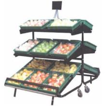 Estante con alta calidad de exhibición de venta bien supermercado de frutas y hortalizas