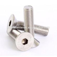 stainless steel hexagon socket countersunk bolt A2-70 A4-80