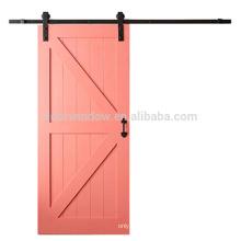 Diseño de moda pintura color rosa pino alerce madera de cerezo Madera de alta calidad Puerta corredera de granero