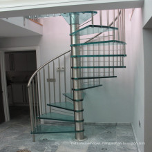 save space circular staircases / tempered glass round ladder