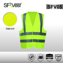 2015 nuevos productos ropa de seguridad Tráfico de malla de seguridad barata Reflejo de alta viste chaleco hombres