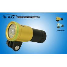 HI-MAX V11 2400 lumen de 140 grados de ángulo de ángulo de alimentación del indicador interruptor equipo de buceo al por mayor para la venta