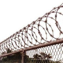Fil de rasoir galvanisé à haute sécurité à l'aide de la clôture