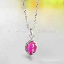 2016 New Fashion Silver Necklace Collier de pierres précieuses Design de personnalité pour femmes SCR009