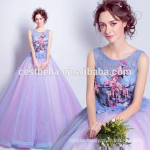 El surtidor de China vende al por mayor el vestido de boda azul rosado del vestido de bola del quinceanera suave