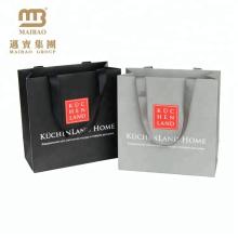 Butikegeschenk-Einkaufsgewohnheit grau oder Schwarz-recht einzigartige Papiergeschenk-Beutel-Großverkauf für das Verpacken