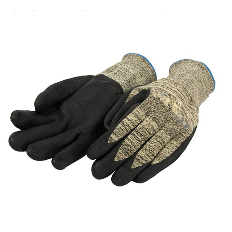 Full nitrile oil resistant gloves