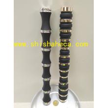 Duplo cor Hookah Shisha Chicha cachimbo Nargile chapeamento de alumínio Stem