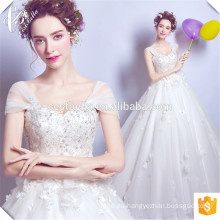 Alibaba Suzhou Fábrica Vestidos de Baile Vestidos de Boda Dulce Marfil