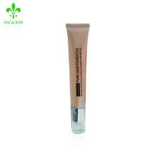 Paquete de uso de maquillaje crema cc pequeños envases de plástico pom tube