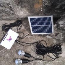 Le système solaire de lampes de lumières d'éclairage de marchés ruraux LED avec la qualité de TUV a approuvé