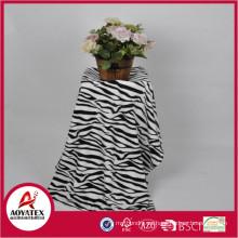 manta de lana con estampado de cebra, manta de lana de coral 100% poliéster estampada