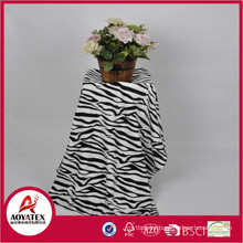 zebra print fleece blanket, 100% polyester printed coral fleece blanket