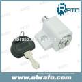 RC-161 White Push-In closet door lock