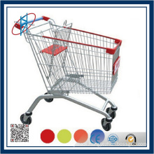 Colorful Smoothly Folding Wire Shopping Cart