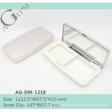 Rectangular Compact Powder Case/Compact Powder Container With Mirror AG-DM-1218, AGPM Cosmetic Packaging , Custom colors/Logo