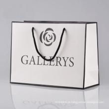 Saco de papel de compras de saco de papel high-end de impressão personalizada