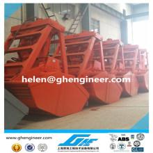wireless remote control hydraulic grab 0.5cbm - 16cbm for bulk cargo for sale