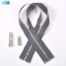 Y Tooth Zipper 3# Metal Zipper, Long Chain