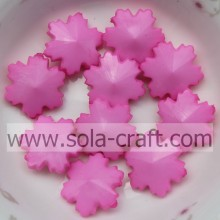 14MM Yiwu Jewelry Acrylic Spacer Beads Snowflake Mixed Rose Glitter Beads Fit European Bracelet Decoration