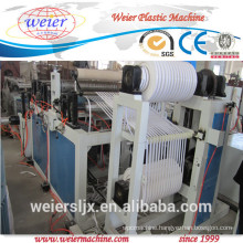 pvc edge banding making machine with hot stamping online, 400mm wide pvc edge banding production line