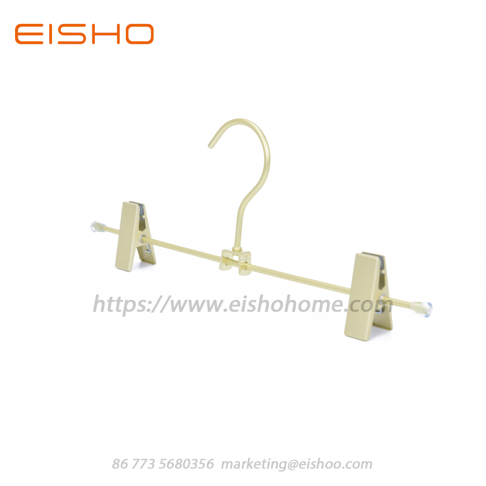 Pants Hangers With Clips In Satin Finised Aluminum 11 8 4