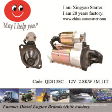 2.8kw 12V 11 teeth Four Wheel Tractor Motor Parts