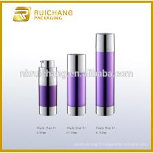 15ml / 30ml / 50ml rond bouteille cosmétique sans air, bouteille de pompe à air sans cosmétiques à double tube
