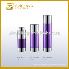 15ml/30ml/50ml rotate cosmetic airless bottle,double tube cosmetic airless pump bottle