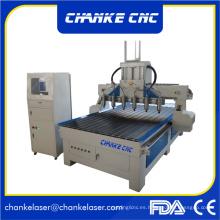 6 cabezales máquina de grabado de corte de carpintería CNC