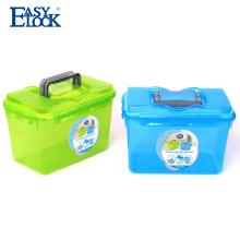 Caja de almacenamiento de plástico con mango
