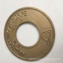 "brass round plate 2 1/2""or 4"" fire products 8531003"