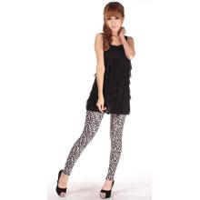 Leggings atractivos calientes del leopardo de la señora, polainas coloridas del grano del leopardo de la mujer, polainas con la impresión salvaje del leopardo (A1)
