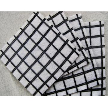 Penguatkan Asphalt Glassfiber Geogrid Geocomposite