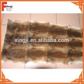 Natural Brown Plucked Hair Rabbit Skin Plate