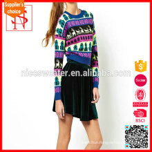 Jacquard image fashion knitting patterns christmas sweater wholesaler