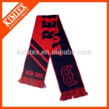 Fashion custom knitting football team scarf