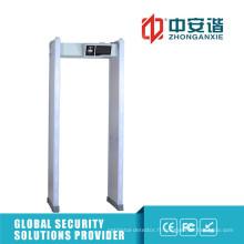 Détecteur de métaux à cadre de porte Alarmes visuels 100 Détecteur de fréquence de travail